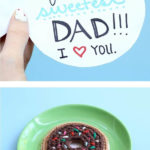 Love this DIY donut idea for Dad!
