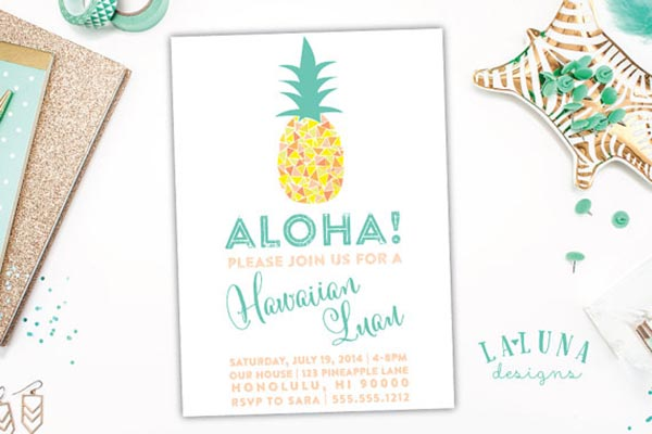 Love this Pineapple Invitation!