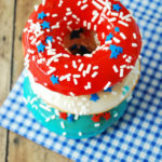 Lovely Red, White And Blue Donuts For 4th Of July!