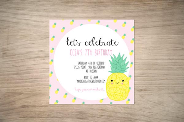 Oh my gosh this is the cutest pineapple invitation!