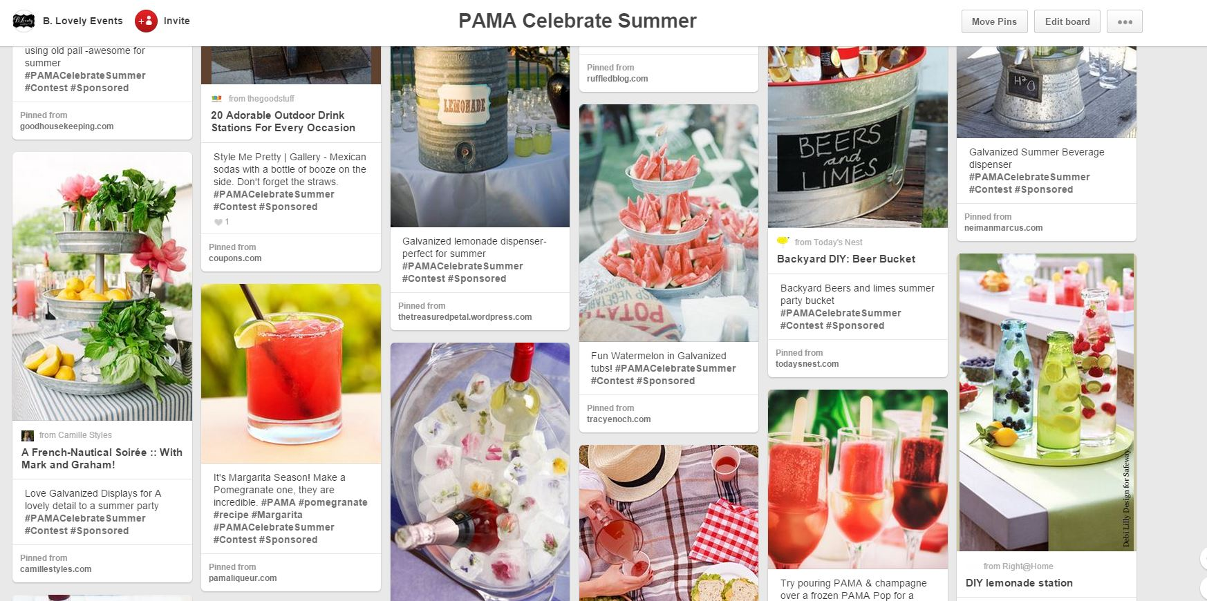 PAMA Celebrate Summer Board