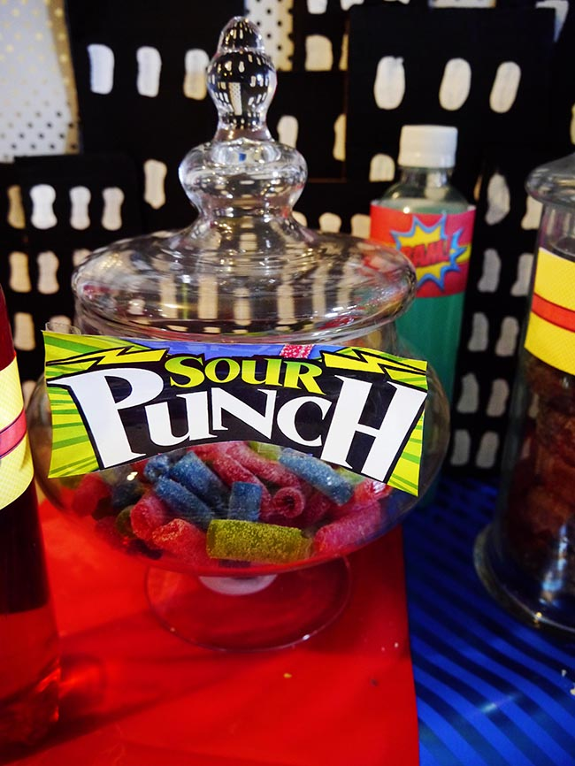 Super Punch Superhero Party Snacks