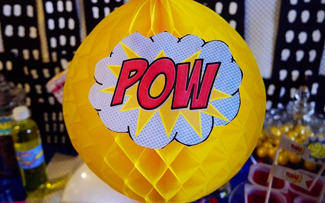 Superhero Pow Party Decorations