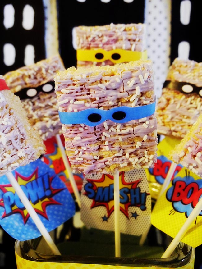 Superhero Rice Krispie Men!