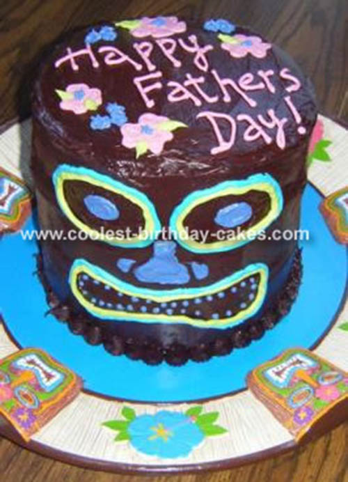 Tiki Father's Day Cake- So cool!