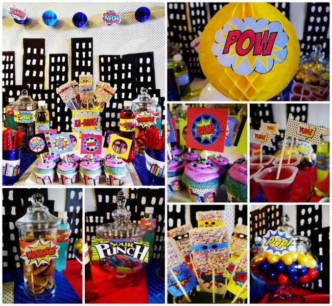 Vintage pop Super Hero Party! - B. Lovely Events