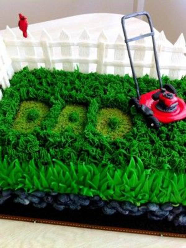 Cake Decorating Making Grass : 10 Cool Father s Day Cakes! - B. Lovely Events