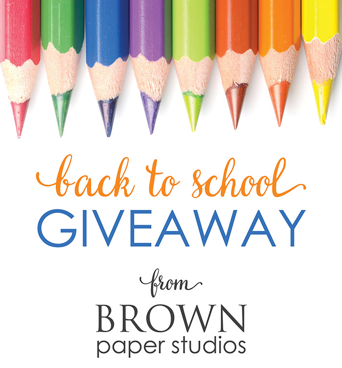 Back To School Giveaway From Brown Paper Studios! #backtoschool #giveaway