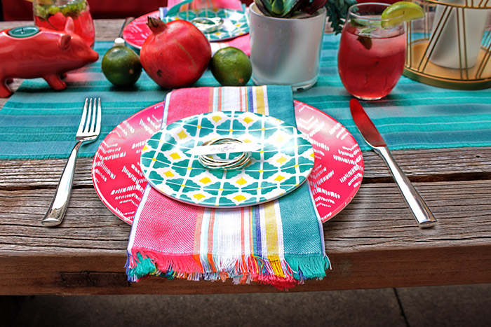 Bright And Colorful Place Setting-Perfect For Summer! - B. Lovely Events