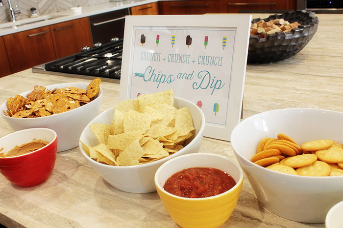 Chips and Dip At This Fun Summer Popsicle Party