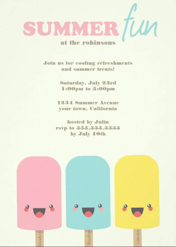 Fun Popsicle Party Invite!