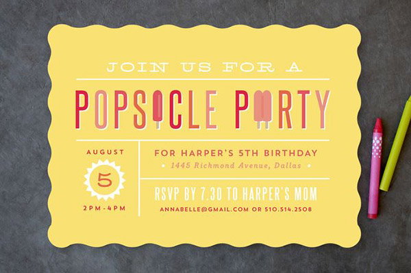 Lov THis Cute Popsicle Party Invitation