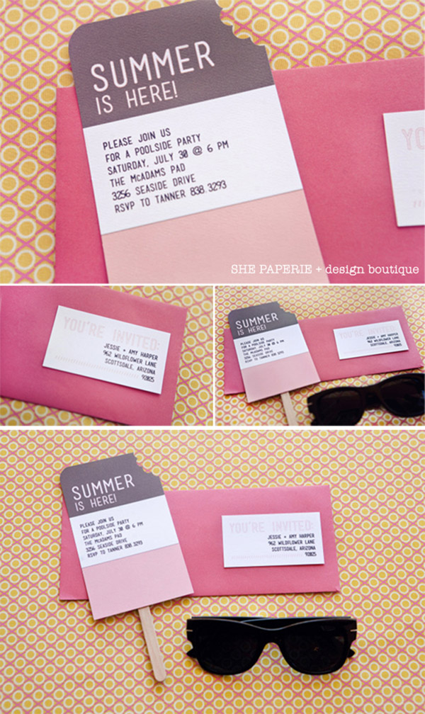 Love This Summer Popsicle Invitaion set!