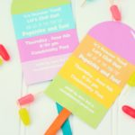 Love the cute design of these popsicle party invites!