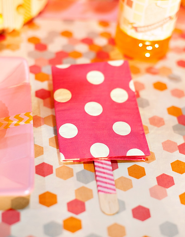 Popsicle Party Napkin Decor!