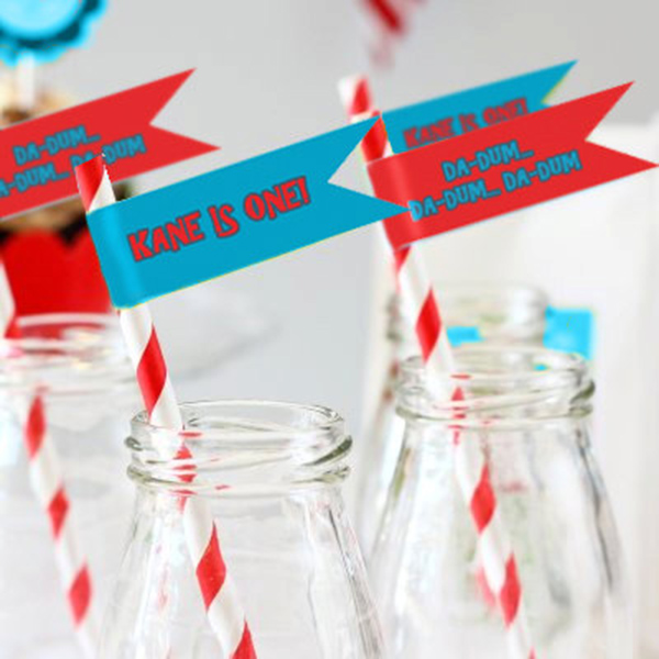 Shark Party Drink Straws!