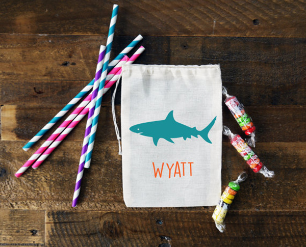 Shark Party Favor bags- How cute!