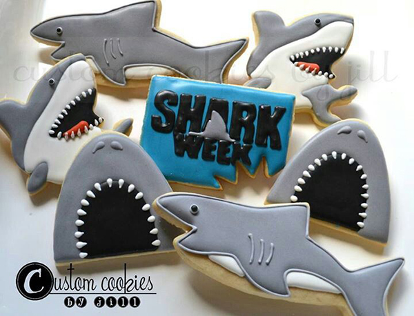 Shark Week Cookies! Look out!