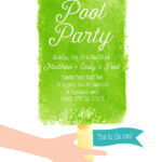 Summer Popsicle Pool Party! This Cute Invite Is From Small Moments!