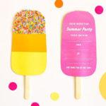 Super Cute Popscile Party Invitations