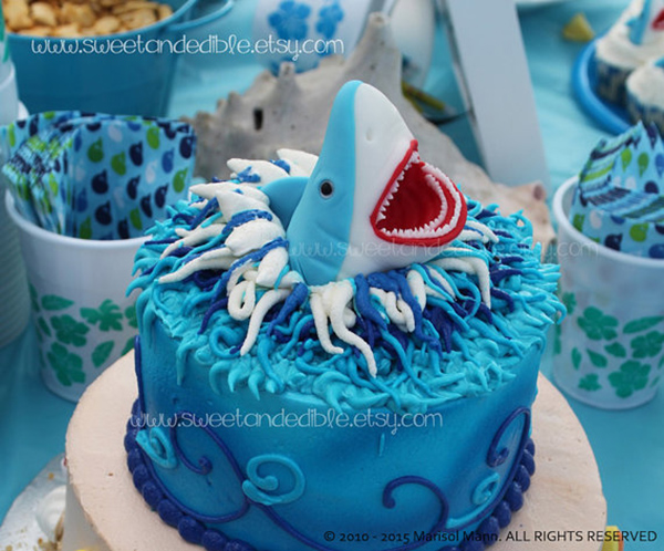 Too Cute Shark cake topper!