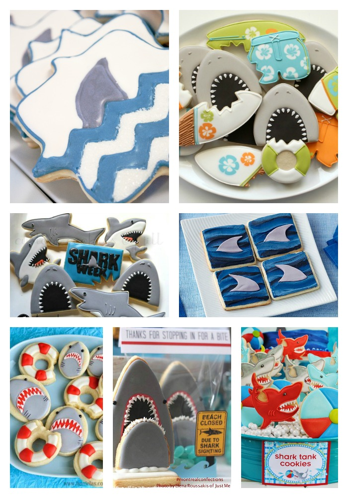 We Are GAGA for these Shark Cookie Ideas! - B. Lovely Events