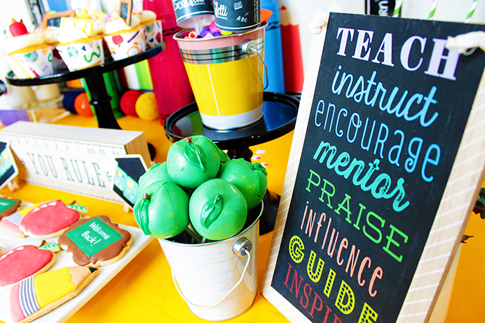 Adorable Details At This Back To School Party!