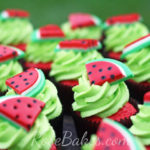 Adorable watermelon cupcakes!