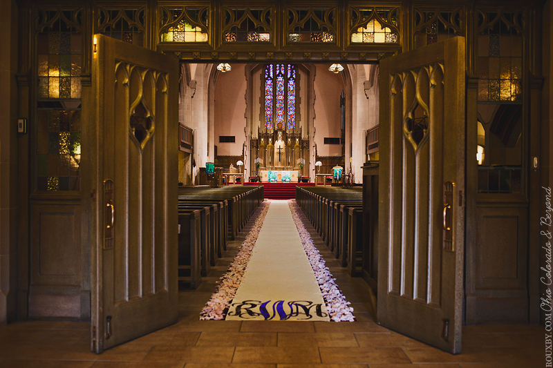 Cathedral Wedding With Custom Ailse Runner