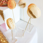 Cute Display Of Gold Glitter Macaroons