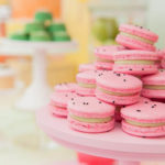 Cute and adorable watermelon macaroons