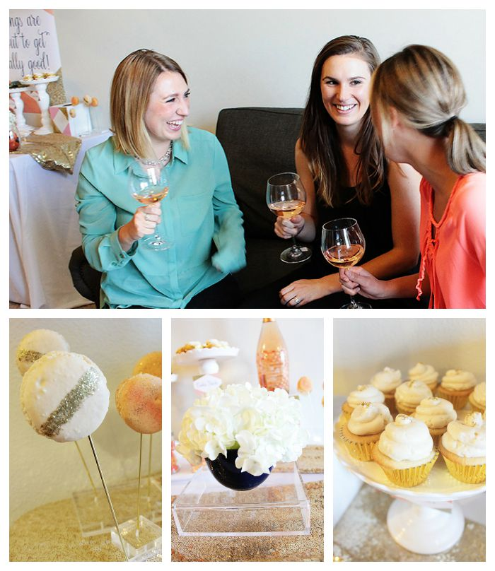 Gold Glittery Girls Night In- Perfectly Paired With Caposaldo Wines!
