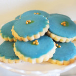 Navy and gold Sugar cookies