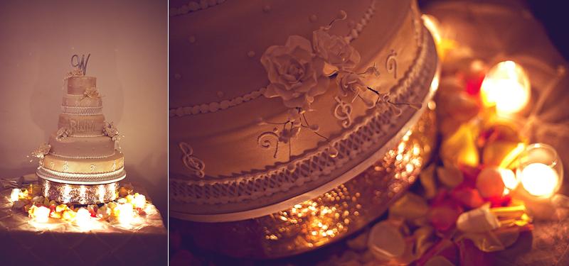 Vintage Hollywood Music Inspired Wedding Cake