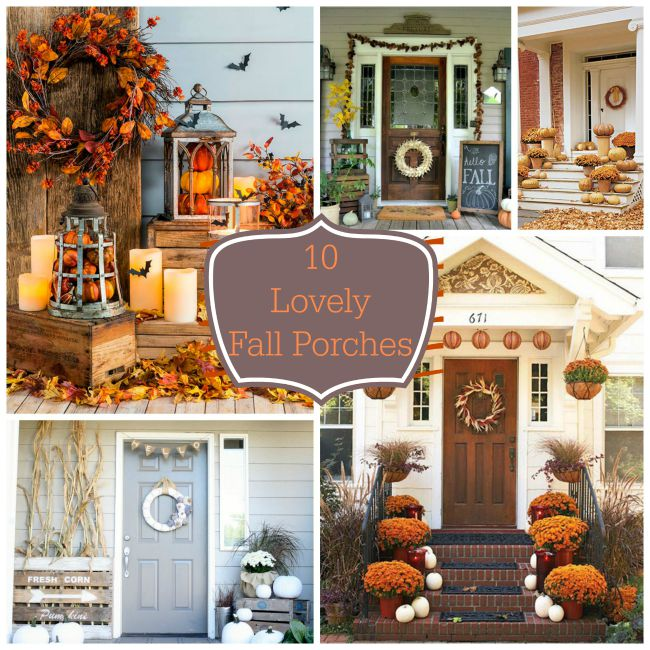10 Lovely Fall Porches!- B. Lovely Events