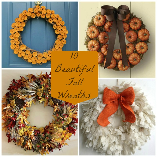 10 Lovely Fall Wreaths- B. Lovely Events