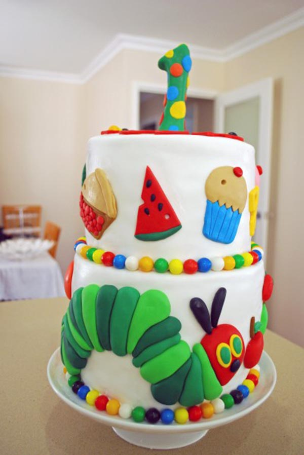 Amazing Very Hungry Caterpillar Cake!