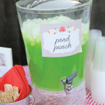 Cute Pong Punch for a wood land party!