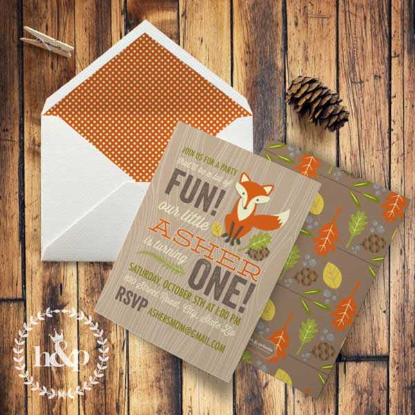 Cute Woodland Party Invitation!