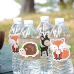 Cute Woodland party water!