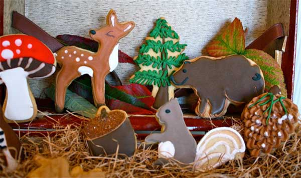 Cute little woodland cookies!