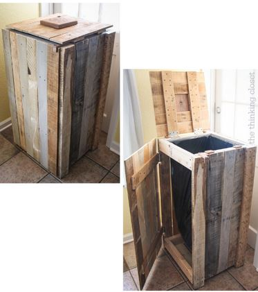 Easy Wooden boxes for backyard organization