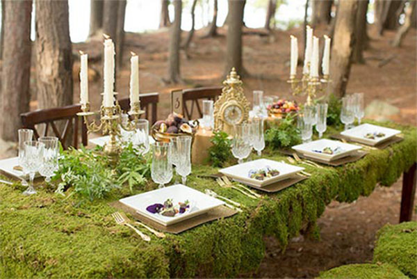 Fabulous Woodland Wedding Tablescape