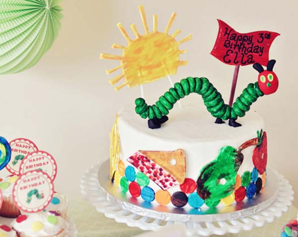 Love This Very Hungry Caterpillar Cake