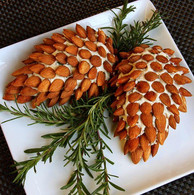 Love this acorn cheeseball dip