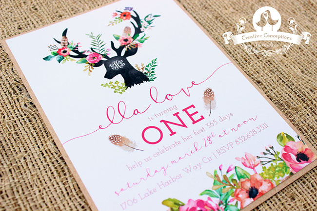 Lovely Woodland Party Invite!