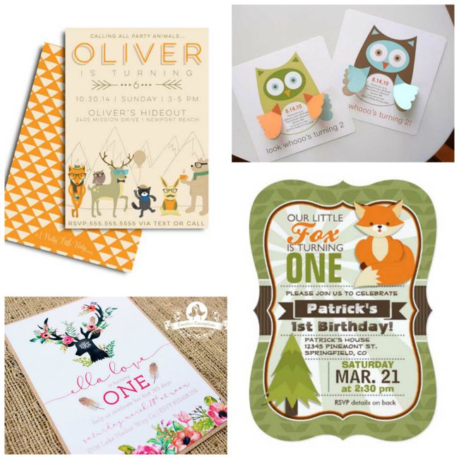 The Cutest Woodland Invitations (Ever!) - B. Lovely Events
