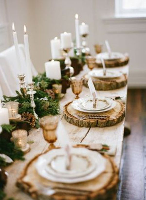 The cutest Woodland wedding tablescape