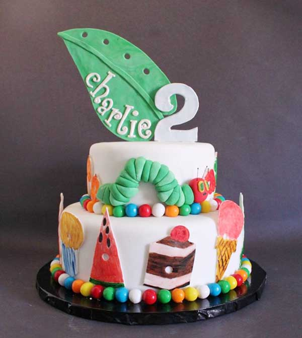 Very Hungry Caterpillar Cake- too cute!