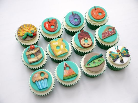 Very Hungry Caterpillar Cupcakes- too cute!